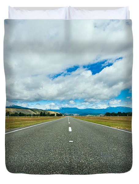 Highway Through The Countryside  Duvet Cover by Ulrich Schade