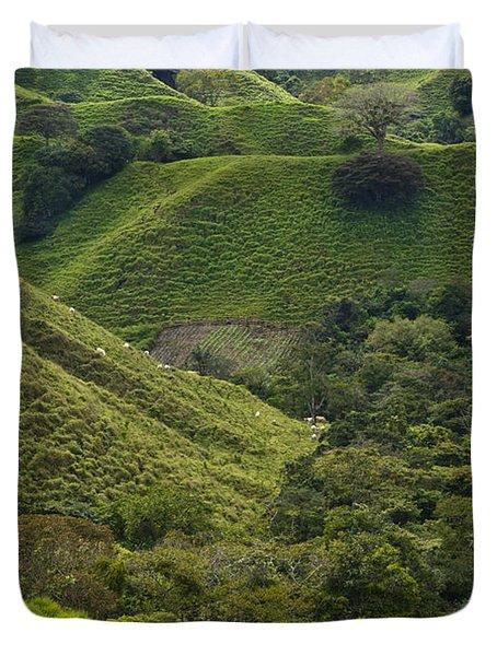 Hills Of Caizan 2 Duvet Cover by Heiko Koehrer-Wagner