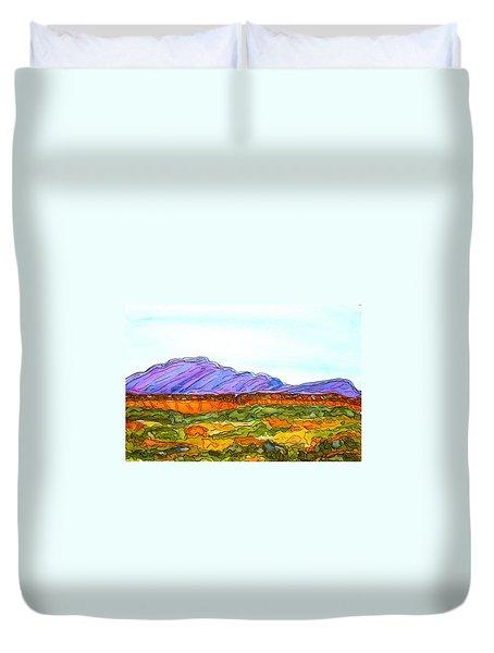 Hills That Nourish Duvet Cover