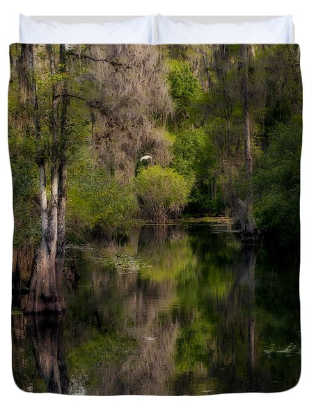Duvet Cover featuring the photograph Hillsborough River In March by Steven Sparks