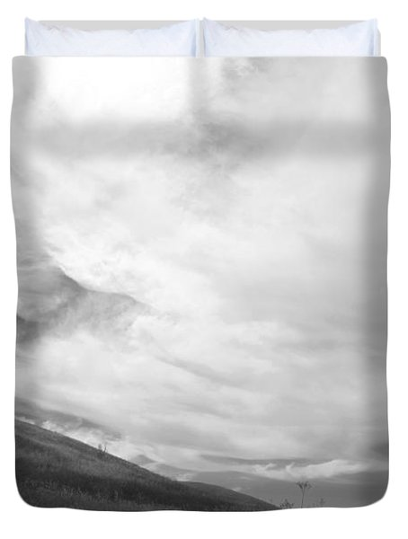 Duvet Cover featuring the photograph Hillside Meets Sky by Kathleen Grace