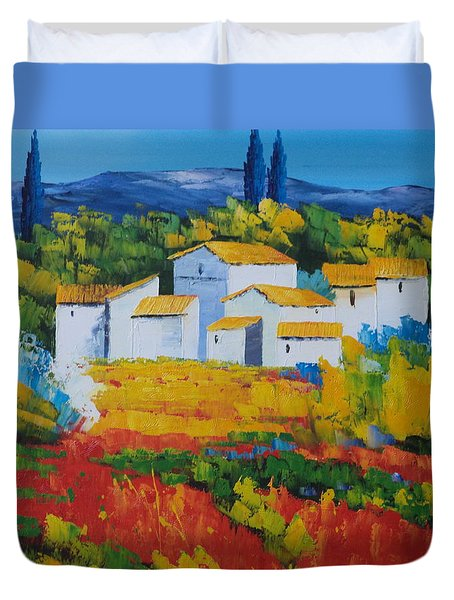 Hilltop Village Duvet Cover