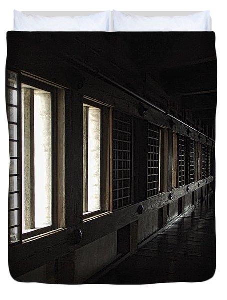 Himeji Castle Corridor - Himeji City Japan Duvet Cover