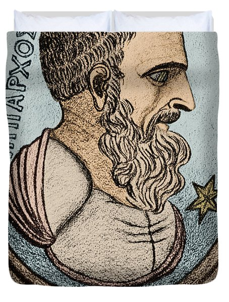 Hipparchus, Greek Astronomer Duvet Cover by Photo Researchers, Inc.