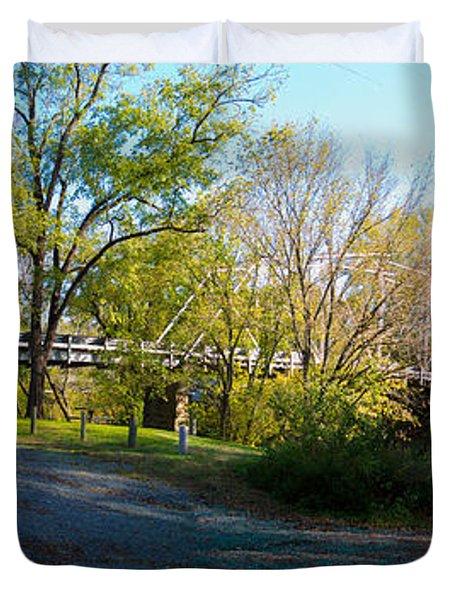 Historic Camelback Bridge Duvet Cover