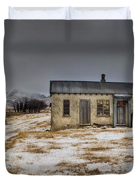 Historic Farm After Snowfall Otago New Duvet Cover by Colin Monteath