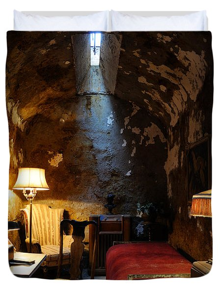 Historic Prison Cell Of Al Capone Duvet Cover by Gary Whitton