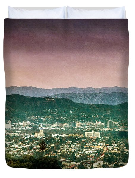 Hollywood At Sunset Duvet Cover