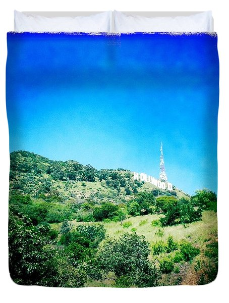 Duvet Cover featuring the photograph Hollywood by Nina Prommer