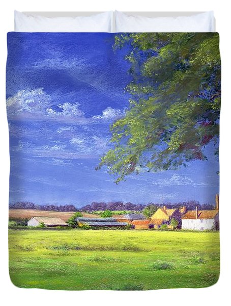 Home Field Duvet Cover by Anthony Rule