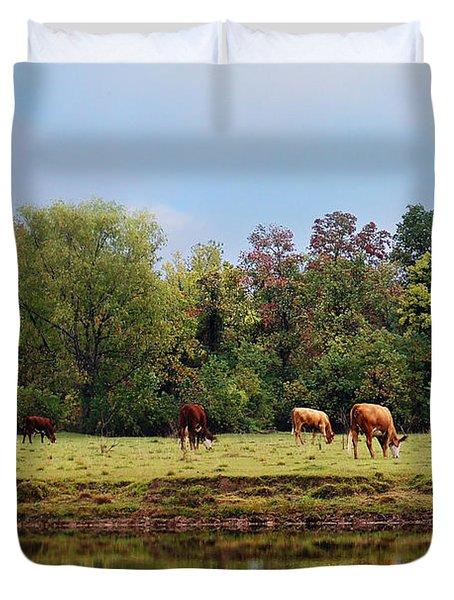 Home On The Range Duvet Cover by Susan Bordelon