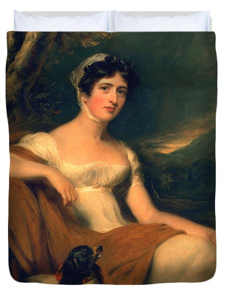 Honorable Emma Cunliffe Later Emma Cunliffe-offley Duvet Cover by Thomas Lawrence