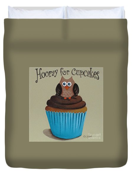 Hooray For Cupcakes Duvet Cover by Catherine Holman