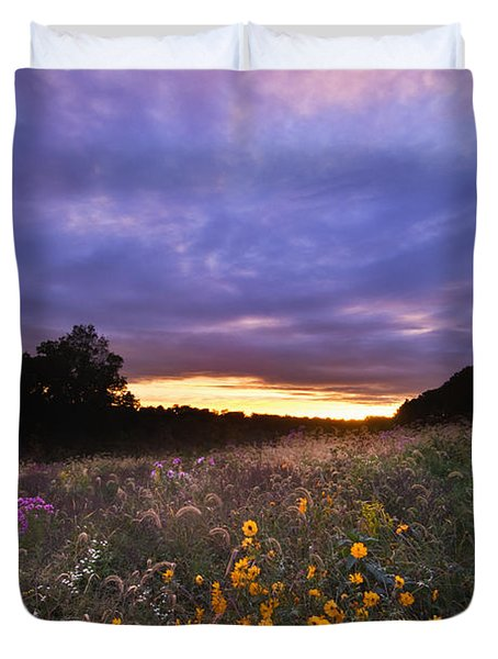 Hoosier Sunset - D007743 Duvet Cover by Daniel Dempster