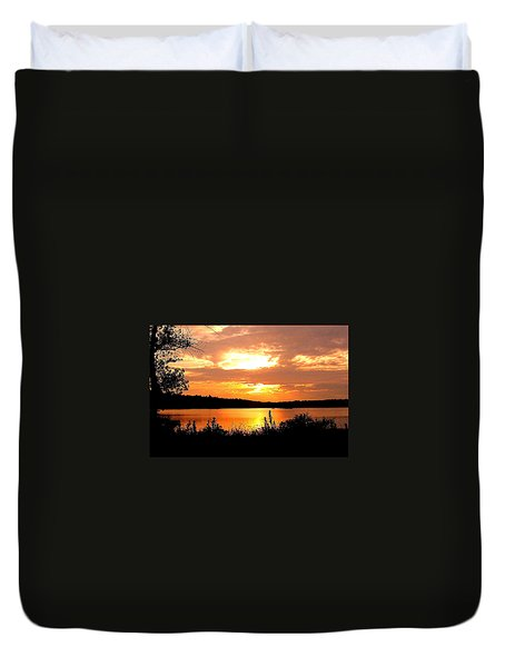 Horn Pond Sunset 2 Duvet Cover
