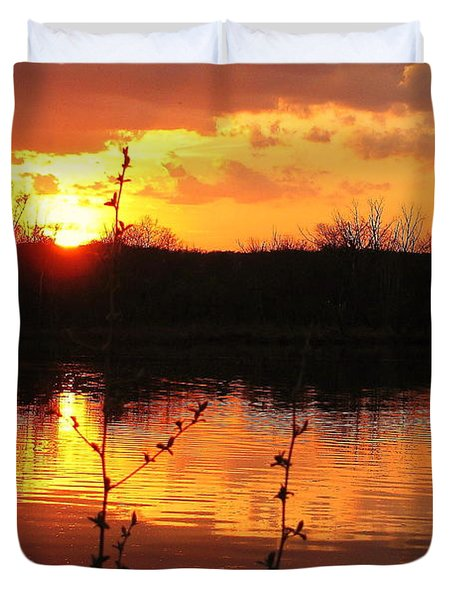 Horn Pond Sunset 8 Duvet Cover