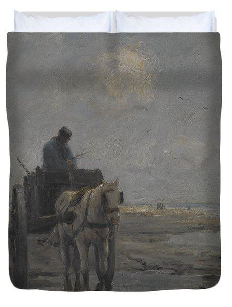 Horse And Cart Duvet Cover by Evert Pieters