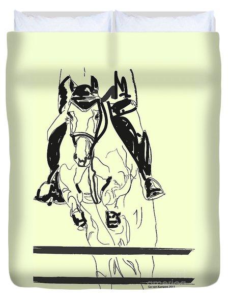Horse-jumping Duvet Cover by Go Van Kampen