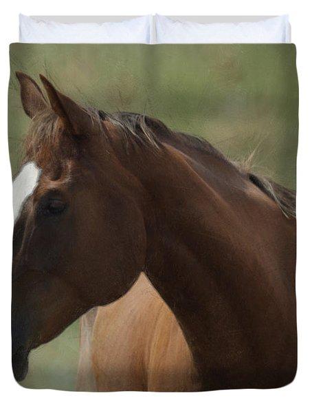 Horse Painterly Duvet Cover by Ernie Echols