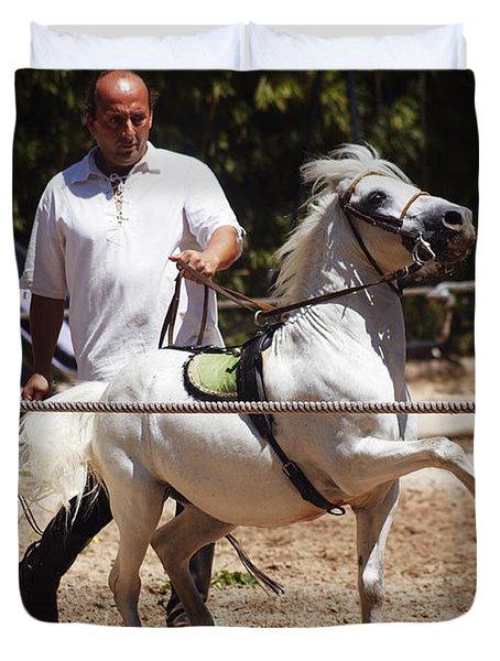 Horse Training Duvet Cover