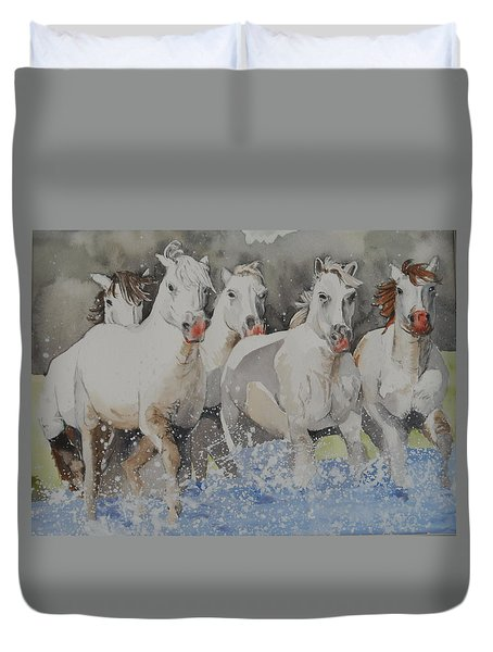 Horses Thru Water Duvet Cover