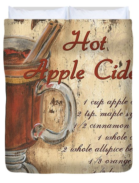 Hot Apple Cider Duvet Cover
