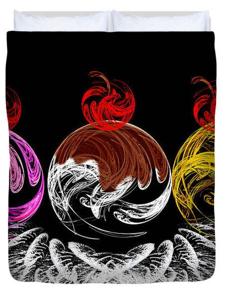 Hot Fudge Ice Cream Boat Duvet Cover by Andee Design