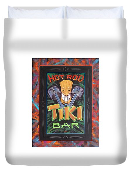 Hot Rod Tiki Bar Duvet Cover
