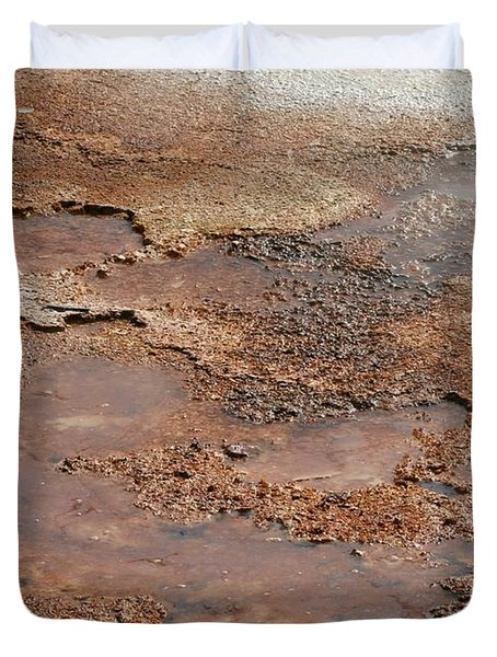 Hot Springs Abstract Duvet Cover by Sabrina L Ryan