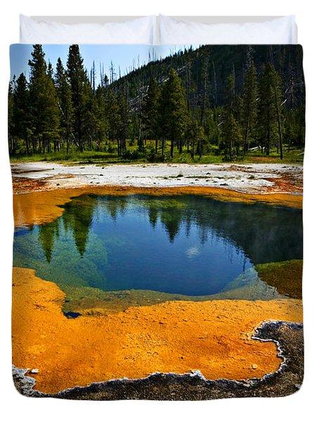 Hot Springs Yellowstone Duvet Cover