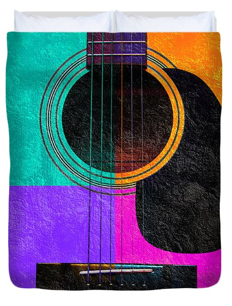 Hour Glass Guitar 4 Colors 2 Duvet Cover by Andee Design