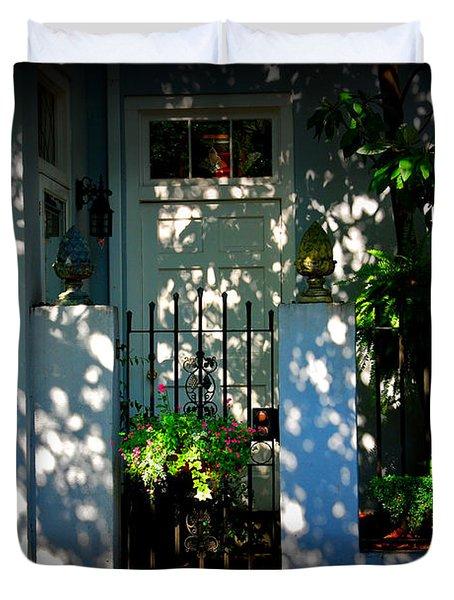 House Door 11 In Charleston Sc  Duvet Cover by Susanne Van Hulst