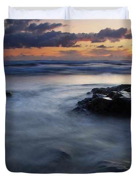 Hug Point Sunset Duvet Cover by Mike  Dawson