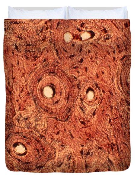 Human Bone Tissue Duvet Cover