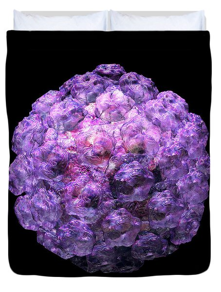 Duvet Cover featuring the digital art Human Papilloma Virus  10 by Russell Kightley