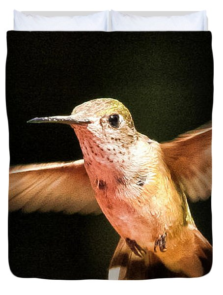 Duvet Cover featuring the photograph Hummingbird  by Albert Seger