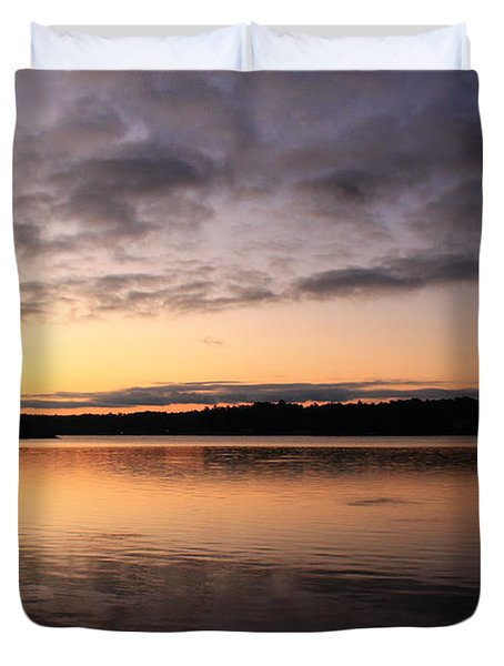 Hungry Fish At Sunrise Duvet Cover