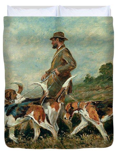 Hunting Exercise Duvet Cover by John Emms