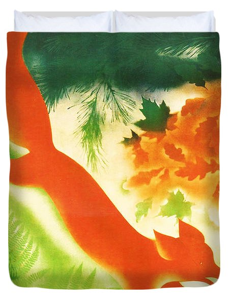 Hunting In The Ussr Duvet Cover by Georgia Fowler