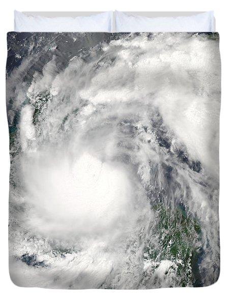 Hurricane Alex Duvet Cover by Stocktrek Images