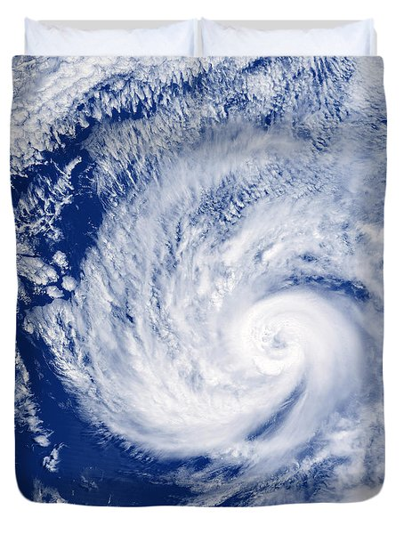 Hurricane Cosme Duvet Cover by Science Source