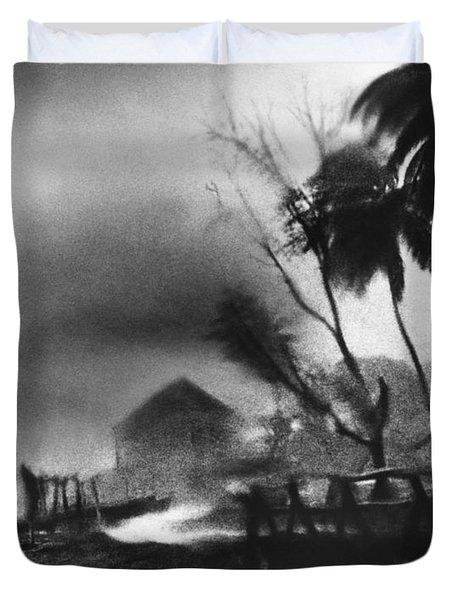 Hurricane In The Caribbean Duvet Cover