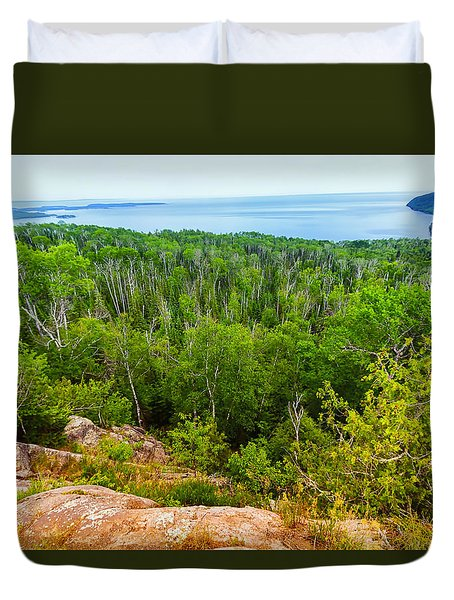 Hwy 61 Scenic Overlook Duvet Cover
