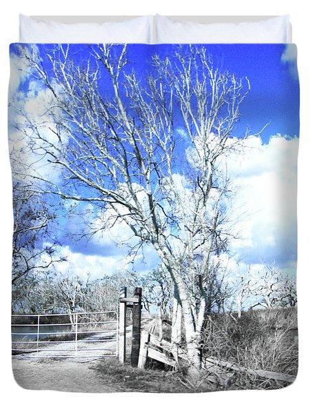 Duvet Cover featuring the photograph Hwy 82 Coastal Louisiana by Lizi Beard-Ward