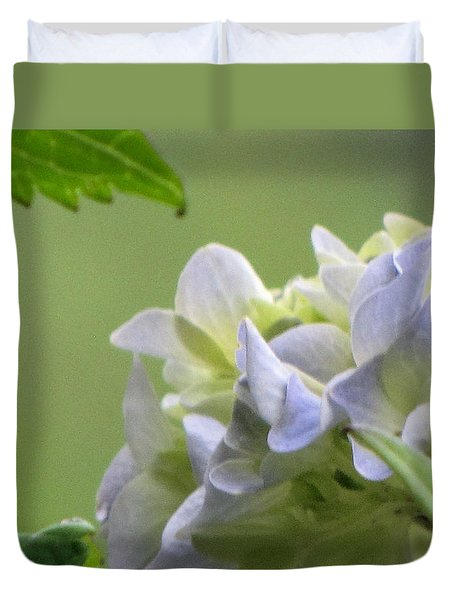Duvet Cover featuring the photograph Hydrangea Blossom by Katie Wing Vigil