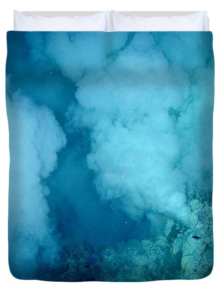 Hydrothermal Smoker Vent Duvet Cover by Science Source