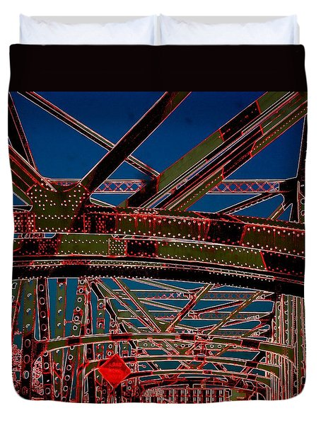 I 55 Bridge In Memphis Duvet Cover