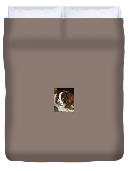 Duvet Cover featuring the photograph Baby Face by Katy Mei