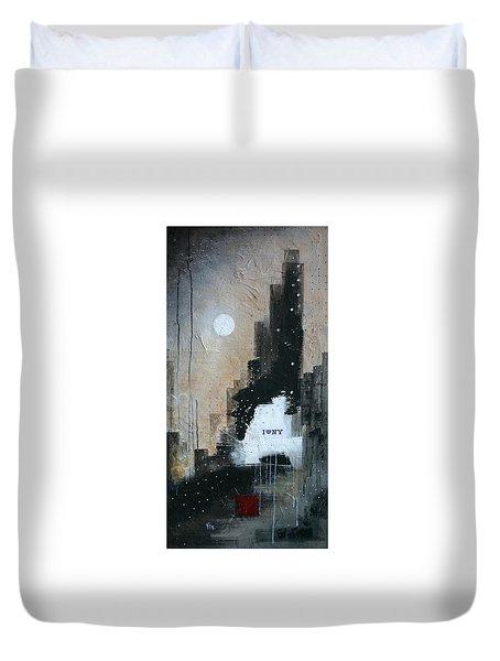I Love Ny Duvet Cover by Germaine Fine Art