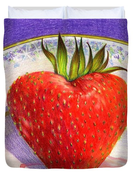 I Love You Berry Much Duvet Cover